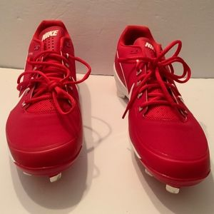 Nike Air clipper red baseball cleats size 13